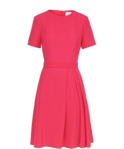 Hugo | Приталенное Платье С Поясом И Защипами