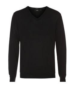 BOSS | Шерстяной Приталенный Пуловер