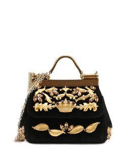 Dolce & Gabbana | Сумка Sicily Micro С Отделкой Бархатом И Кристаллами