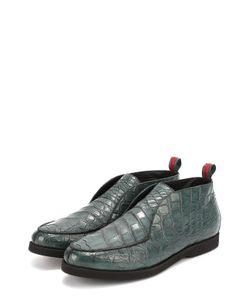 Kiton | Ботинки Из Кожи Крокодила Без Шнуровки