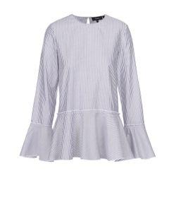 Theory | Блуза В Полоску С Баской И Расклешенными Рукавами