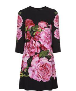 Dolce & Gabbana | Мини-Платье С Укороченным Рукавом И Цветочным Принтом