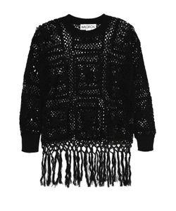 Wildfox | Пуловер Крупной Вязки С Круглым Вырезом И Бахромой
