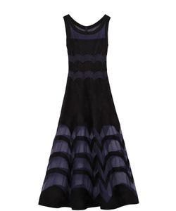Alaïa | Приталенное Платье-Макси С Полупрозрачными Вставками