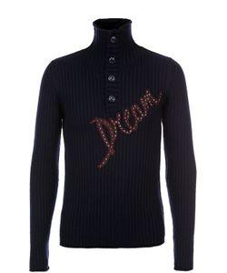 Dolce & Gabbana | Шерстяной Свитер Фактурной Вязки С Аппликацией
