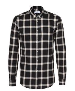 MSGM | Хлопковая Рубашка В Клетку С Воротником Кент