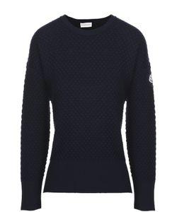 Moncler | Пуловер С Фактурной Отделкой И Разрезами