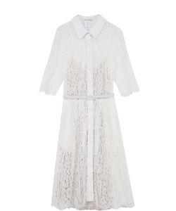 Oscar de la Renta | Кружевное Платье-Рубашка С Поясом