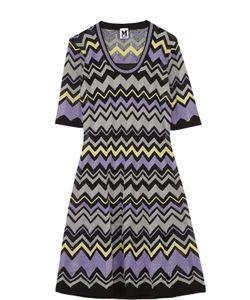Missoni | Приталенное Мини-Платье С Укороченным Рукавом И Металлизированной Отделкой M