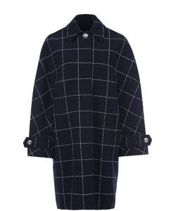 Balenciaga | Пальто Прямого Кроя В Клетку С Широкими Рукавами