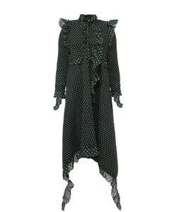 VETEMENTS | Платье Асимметричного Кроя В Горох С Оборками