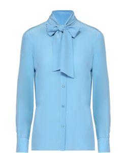 Missoni | Шелковая Блуза Прямого Кроя С Воротником Аскот M