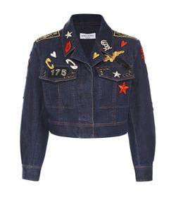 Sonia Rykiel | Укороченная Джинсовая Куртка С Яркими Нашивками