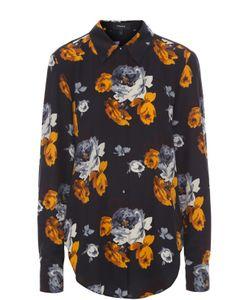 Theory | Шелковая Блуза Прямого Кроя С Цветочным Принтом