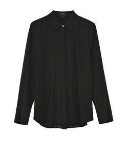Theory | Шелковая Блуза Прямого Кроя С Полупрозрачными Вставками
