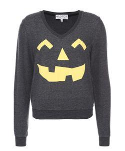 Wildfox | Пуловер С Контрастным Принтом И V-Образным Вырезом