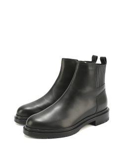 Sergio Rossi | Кожаные Ботинки На Низком Каблуке