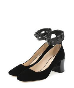 Fendi | Туфли Из Текстиля С Ремешком На Щиколотке