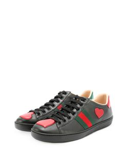 Gucci | Кожаные Кеды New Ace С Фигурными Вставками