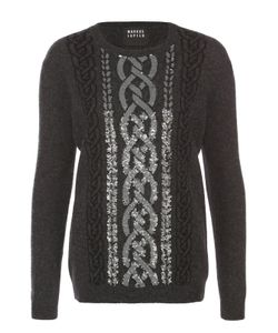 Markus Lupfer | Пуловер Прямого Кроя С Контрастной Вышивкой Пайетками