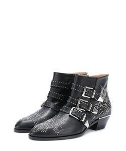 Chloe   Кожаные Ботинки Susanna С Заклепками Chloé