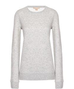 Michael Kors | Кашемировый Пуловер Фактурной Вязки С Круглым Вырезом