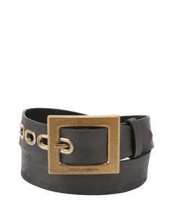Dolce & Gabbana | Кожаный Ремень С Металлической Пряжкой