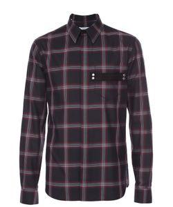 Givenchy | Хлопковая Рубашка С Воротником Кент И Декоративной Отделкой
