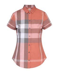 Burberry | Приталенная Блуза В Клетку С Коротким Рукавом