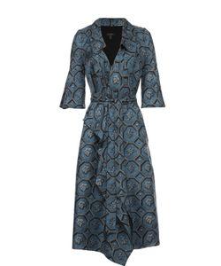 Burberry   Шелковое Платье С Запахом С Поясом И Коротким Рукавом