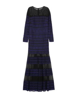 Tadashi Shoji | Полупрозрачное Кружевное Платье-Макси
