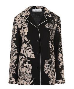 Valentino | Блуза В Пижамном Стиле С Контрастным Принтом