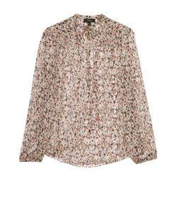 Theory | Шелковая Полупрозрачная Блуза С Воротником Аскот