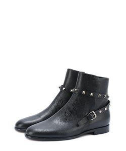 Valentino | Кожаные Ботинки Rockstud С Ремешком