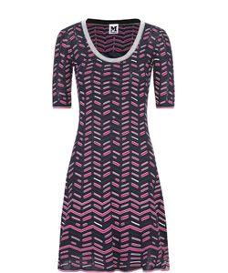 Missoni | Приталенное Мини-Платье С Укороченным Рукавом И Круглым Вырезом M