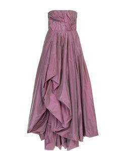 Oscar de la Renta | Шелковое Платье-Бюстье С Подолом И Драпировкой
