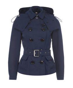 Burberry | Укороченная Двубортная Куртка С Поясом И Капюшоном