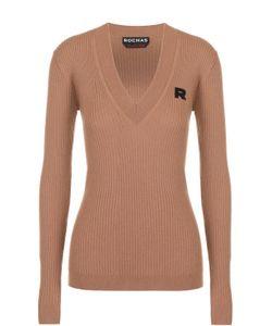 Rochas   Пуловер Фактурной Вязки С V-Образным Вырезом