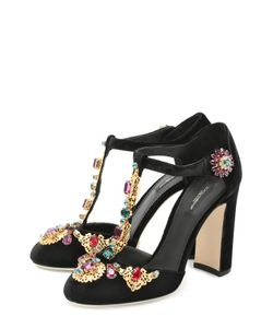 Dolce & Gabbana | Замшевые Туфли Vally С Декором