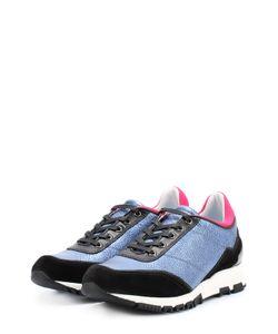 Lanvin | Комбинированные Кроссовки С Цветной Вставкой