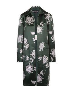 Rochas | Пальто Прямого Кроя С Накладными Карманами И Цветочным Принтом