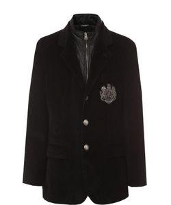 Dolce & Gabbana | Утепленная Куртка Из Вельвета С Вышивкой Канителью
