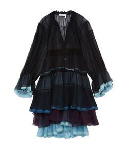 Chloe | Многоярусное Шелковое Платье С Контрастными Оборками Chloé