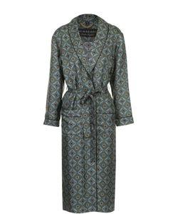Burberry | Шелковое Пальто С Поясом И Контрастным Принтом