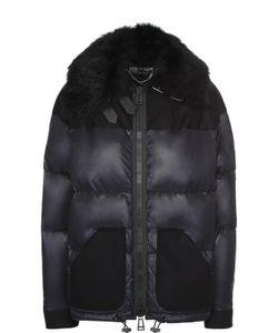 Belstaff   Пуховая Куртка На Молнии С Меховой Отделкой