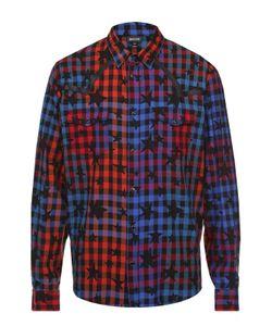 Just Cavalli | Хлопковая Рубашка На Кнопках С Принтом