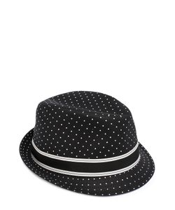 Dolce & Gabbana | Хлопковая Шляпа Трилби С Узором Polka Dot