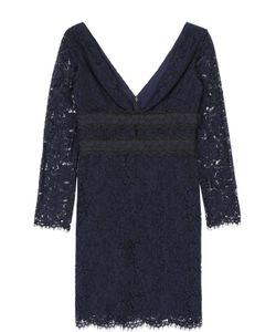 Diane Von Furstenberg | Кружевное Мини-Платье С Глубоким V-Образным Вырезом