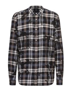 Just Cavalli | Хлопковая Рубашка На Кнопках С Декоративной Отделкой