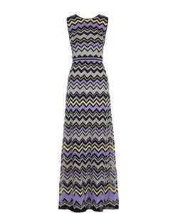 Missoni | Приталенное Платье-Макси Без Рукавов С Металлизированной Отделкой M